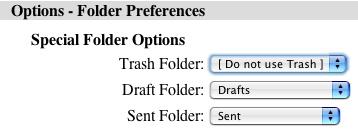 no trash folder