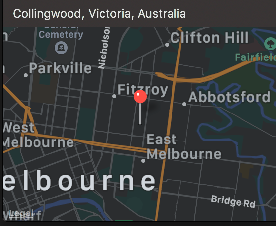 fitzroy/collingwood street location